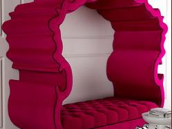 2015新款欧式沙发 特色双人沙发布艺沙发 支持来图定制沙发