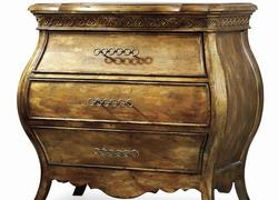 新古典欧式床头柜 实木欧式床头柜 金箔做旧床头柜