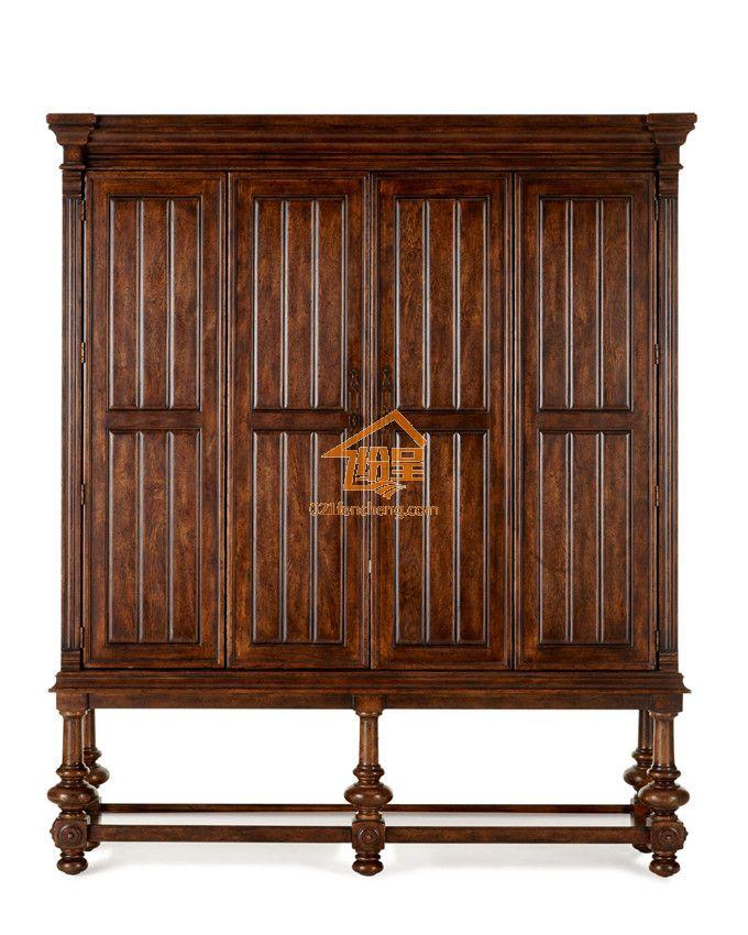 欧式实木衣柜电视柜定制