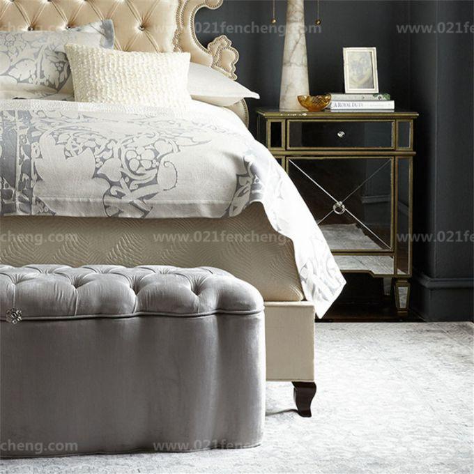 奢华欧式床 宫廷欧式布艺国王床定制定做