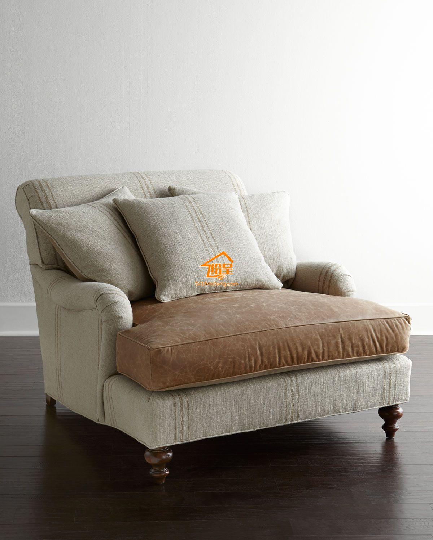 美式休闲椅 单人位美式休闲沙发 工厂直销图片