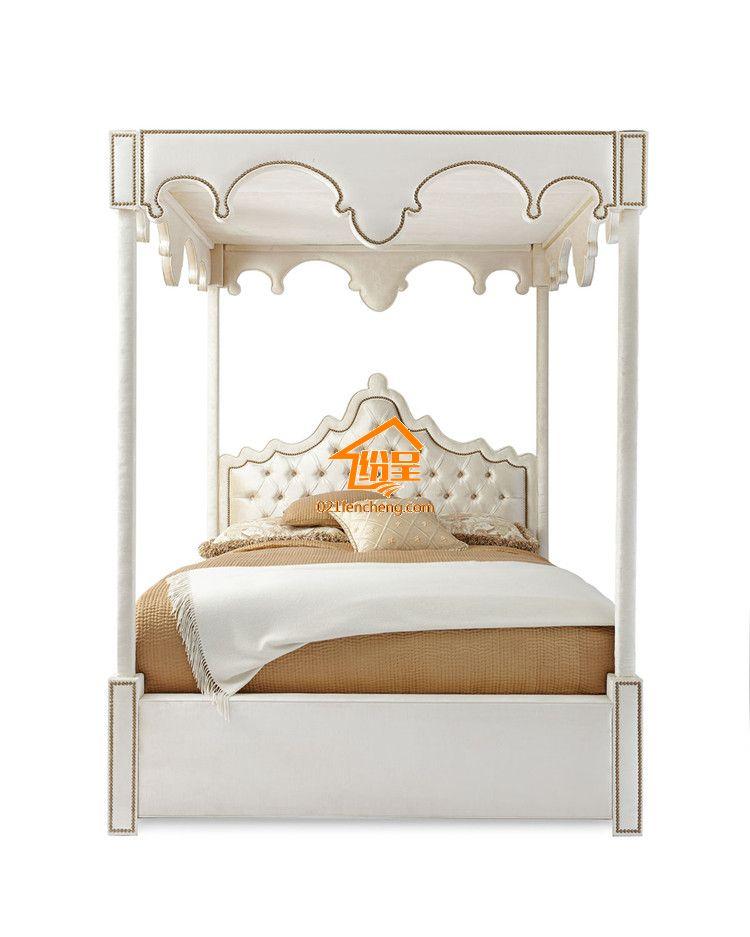 奢华欧式宫廷四柱床 欧式公主王后床