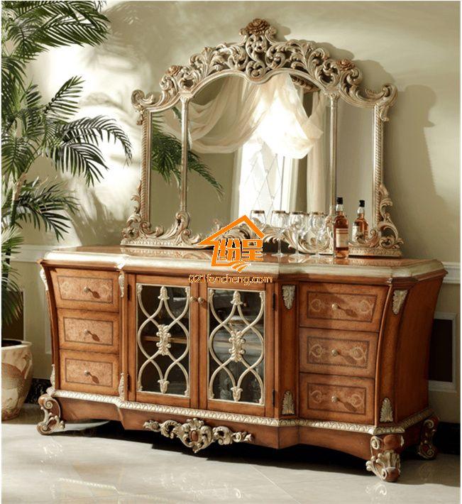 奢华欧式梳妆台定制 实木手工雕花 - 欧式家具频道