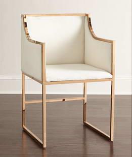 金铜色不锈钢铁艺沙发椅定制FCcy0012-m