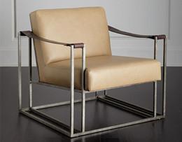 美式沙发椅铁艺复古仿/真皮定制LS-T1001
