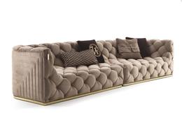 现代沙发新款高品质4人位布艺沙发定制