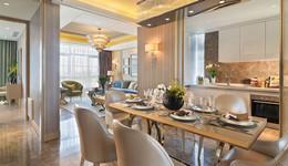 上海绿地海珀风华四室两厅家具定制展示