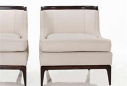 上海沙发定制-简约美式胡桃木沙发椅Fcdry0089-m