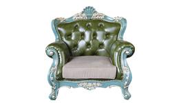 简约欧式沙发 单人位沙发椅 美式真皮沙发组合 工厂直销可定制