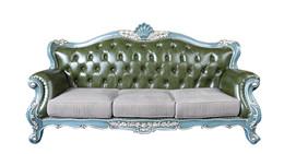 欧式实木沙发3人位银箔手工雕花
