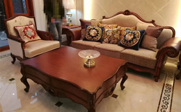 复古美式实木家具定制全套家具送货现场实拍