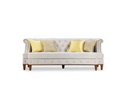 美式沙发三人位客厅布艺沙发坐垫可拆洗17新款沙发FCsf603-03定制