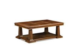 美式茶几实木手工什影木皮拼花客厅创意茶几定制美式家具