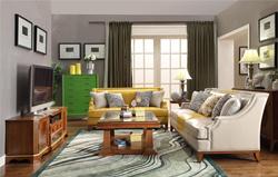 美式套装客厅组合家具沙发茶几电视柜储物柜5件套家具定制
