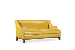 沙发 双人 美式实木小沙发真皮沙发座椅定制家具