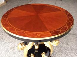 定制实木边几新古典美式茶几客厅沙发圆几现代轻奢FCbj170801